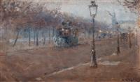 boulevard scene, paris by nils kreuger