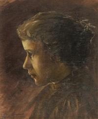 profilo di fanciulla by adolfo tommasi