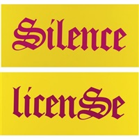 silence/license (pair) by kay rosen