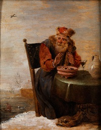 allegorie des winters (painter from the circle of david teniers by anonymous-flemish (17)