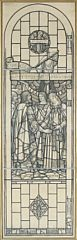 kg. malcolm meets st. margaret at wearmouth - draft for a church window by sydney harold meteyard