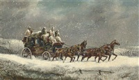 the york mail coach by samuel henry alken
