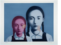 big family: two sisters by zhang xiaogang