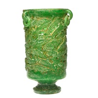 trout vase by charles v. miner
