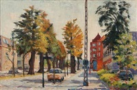 city scenery, jægersborg allé by victor brockdorff