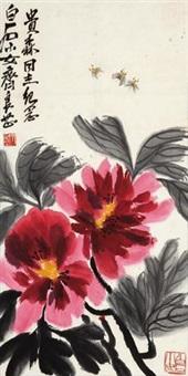 富贵荣华 (peony) by qi liangzhi