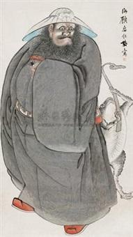 钟馗图 by gu anren
