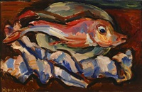expressionist fish by milan konjovic
