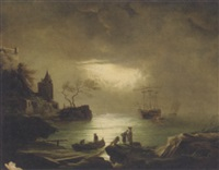 a moonlit docking by arnold fiedler