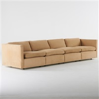four seat tuxedo sofa by charles pfister