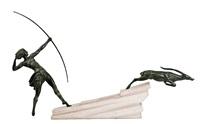 amazona con gacela by jean de marco