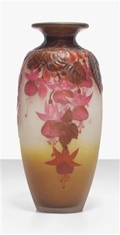 fushia vase by émile gallé