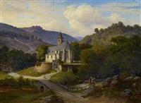 gotische kapelle im tal by karl friedrich lessing