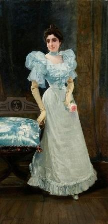 retrato de doña isaura zaldo arana by joaquin sorolla y bastida