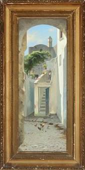 street on capri by julius andersen