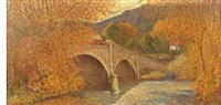 autumn bridge by c. harry allis