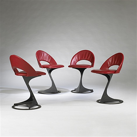 tabourettli theatre chairs set of 4 by santiago calatrava