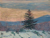 early morning, winter by lilla cabot perry