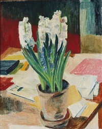 still life with hyacinths by sigurd swane