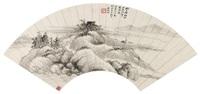 吴湖帆(1894-1968) 渔村远渚 by wu hufan