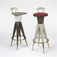 pair of stools by aldo bartolucci