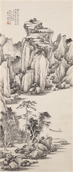 landscape in the manner of jian jiang by xiao sun