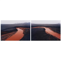 nickel tailings #34 and #35 (2 works0 by edward burtynsky