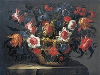 cesta de flores by juan de arellano