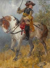 musketier zu pferd by wilhelm karl räuber