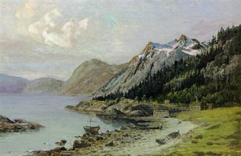bygd ved en norsk fjord by zackarais martin aagaard