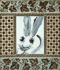 untitled (single bunny) by hunt slonem