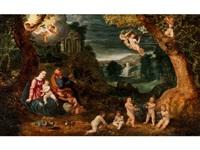 die heilige familie in der ruhe auf der flucht nach ägypten by anonymous-flemish (17)