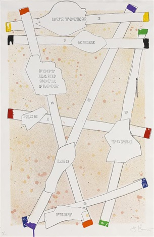 sketch from untitled i by jasper johns
