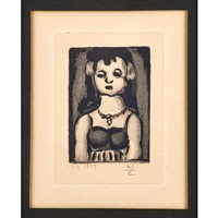 jeune fille by georges rouault