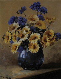 blumen in vase by heinrich camos