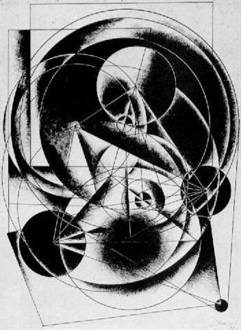 circular constructivist composition by alexander vesnin