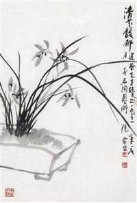 清芬馥郁 (orchid) by xu jiachang