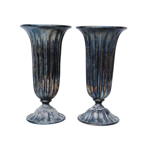 Decorative Glass Vases Pair By Alfredo Rossi On Artnet