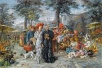blumenmarkt in münchen by maria (philips-weber) weber
