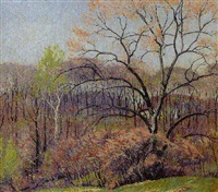 spring landscape by tom milton wilder
