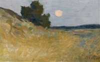the harvest moon by jean-charles cazin