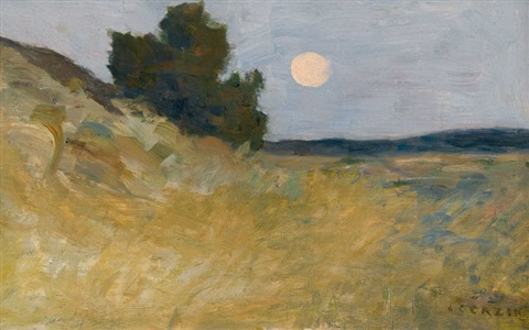 the harvest moon by jean charles cazin