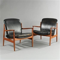 easy chairs (model fd 141) (pair) by finn juhl