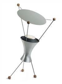 a rare table lamp, model no. t-3-c by james harvey crate