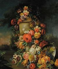 natura morta con fiori by michele antonio rapous
