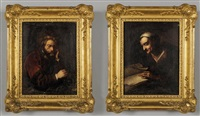 personaggi (pair) by flemish school