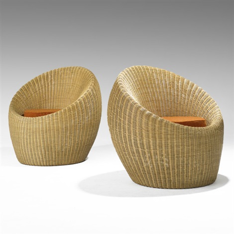 lounge chairs pair by isamu kenmochi