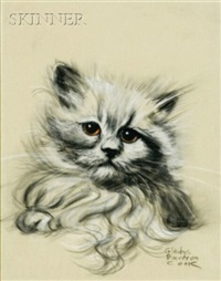 kitten (+ siamese cat; 2 works) by gladys emerson cook
