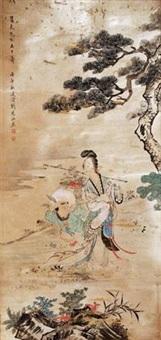 献寿图 by liu lingcang