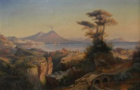 mount vesuvius and the bay of naples by frederick william billing